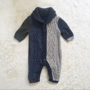 baby Gap Sweater Knit One Piece 0-3 Mos Blue Gray